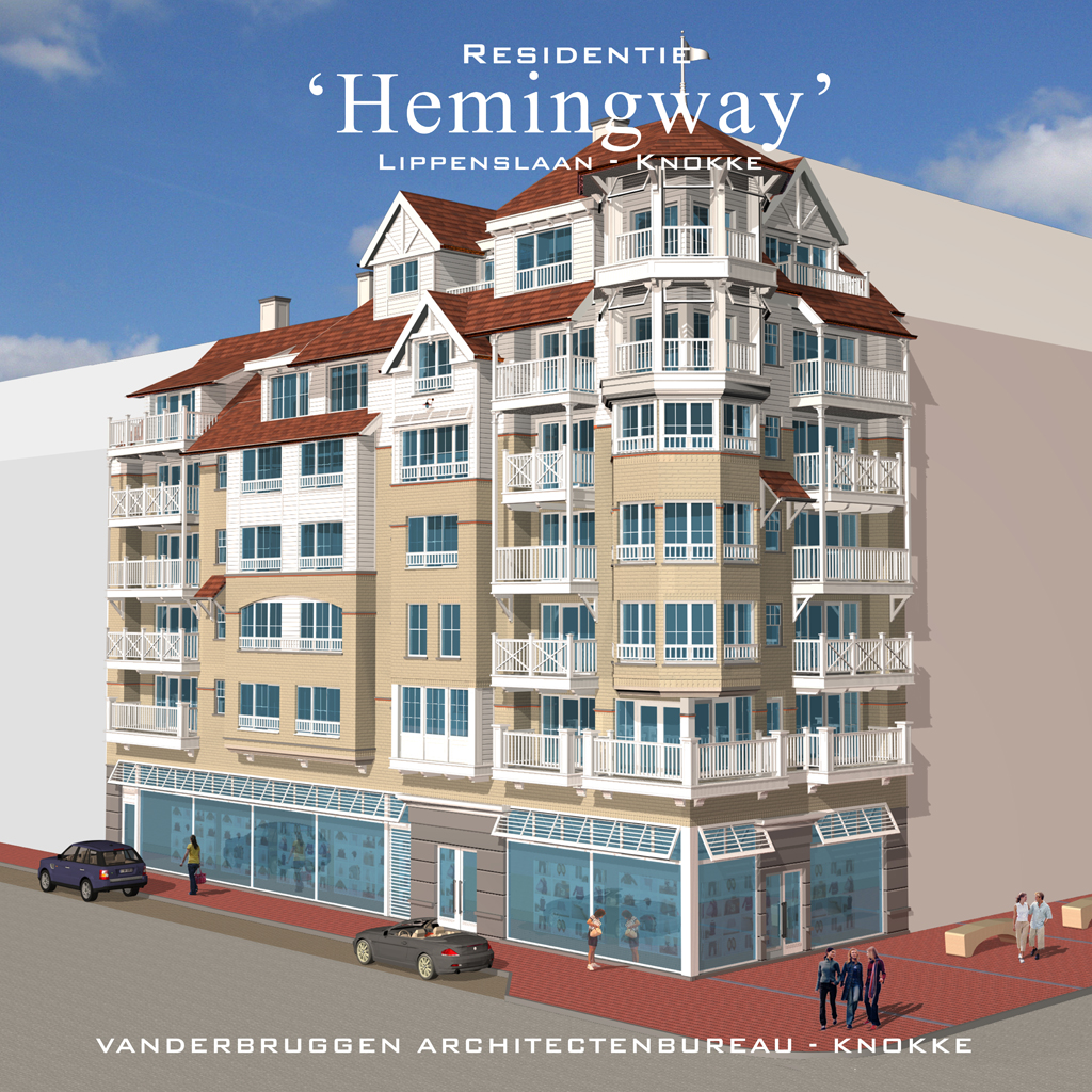Van Tornhaut - bouw van Residentie Hemingway - Knokke