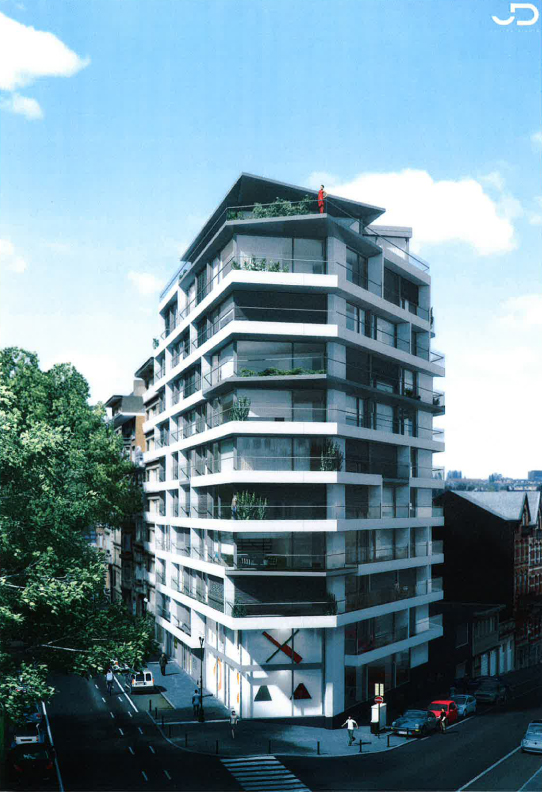 Van Tornhaut - Bouwen van 35 appartementen en 2 handelsruimtes in de Louisalaan te Brussel