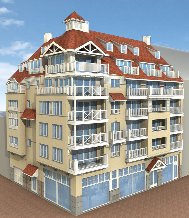 Van Tornhaut - Nieuwbouw met 20 appartementen, 1 handelruimte en 30 ondergrondse parkingplaatsen te Knokke